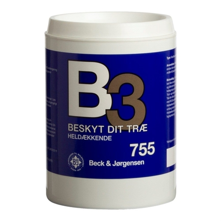 B3 Heldækkende Træbeskyttelse Vandig 0,9 Liter
