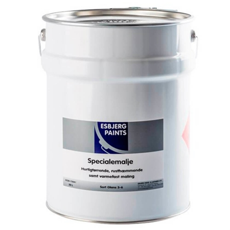 Image of   Esbjerg Paints Specialemalje Sort 20 Liter