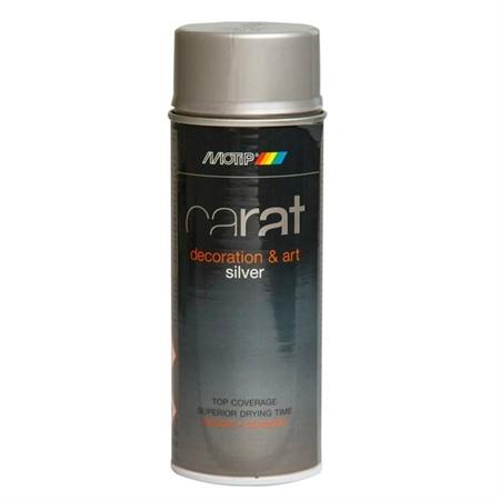 Image of   Motip Carat Spraymaling Sølv 400 ml